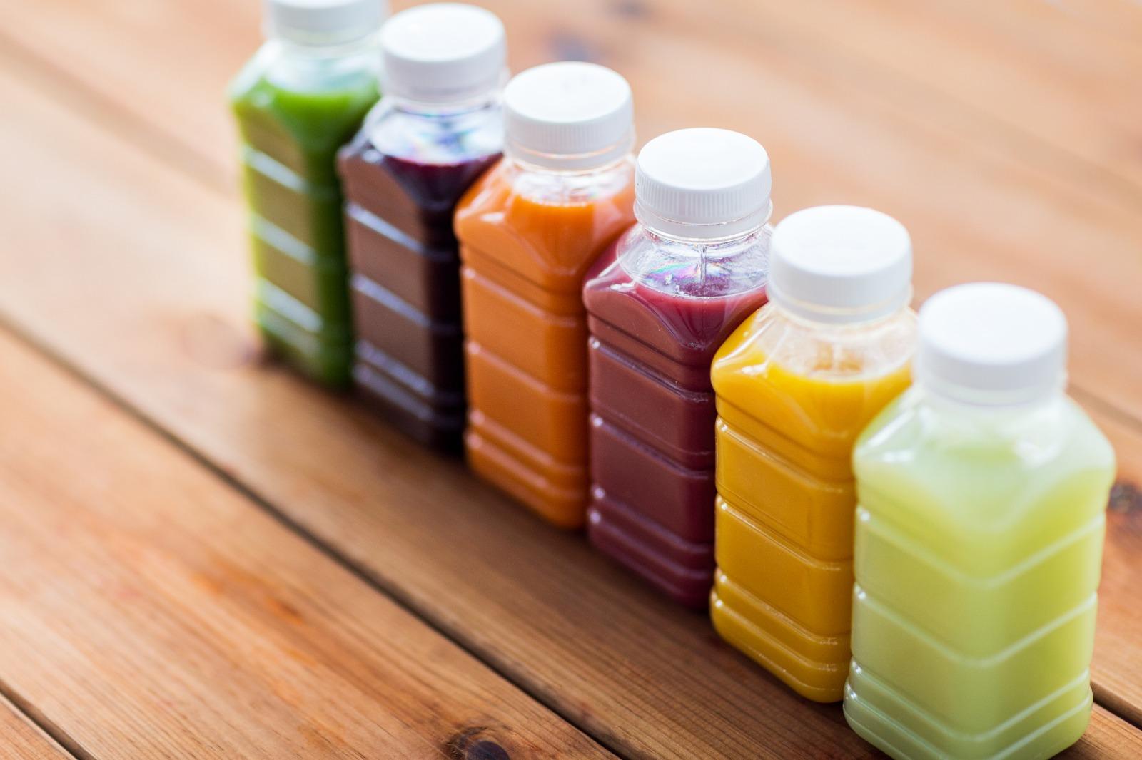 Compostable juice bottles