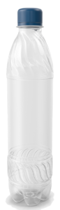 PLA bottles transparent -compostable water bottles