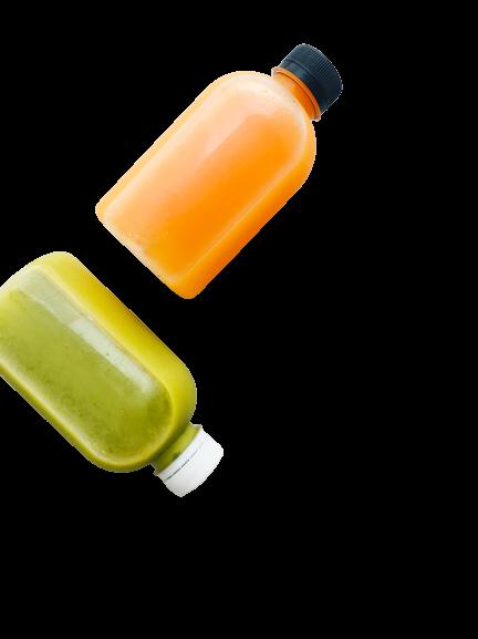 PLA juice bottles - compostable juice bottles